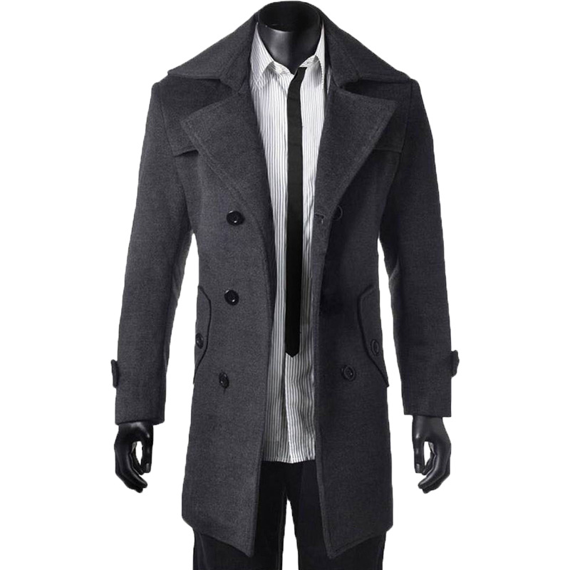 A men's long coat offers warmth and protection from winter's cold and icy weather. A long coat keeps your legs and torso warm, whether you are getting into a cold car or walking to the office in cold, snowy weather. Men's long coats are designed to be worn over a suit, usually in the late fall and winter months.