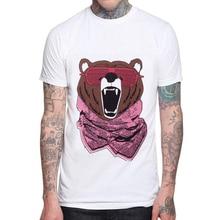 New Brand T Shirt Men 2019 Fashion Russian Bear Shirts Printed Cotton Neck T-shirts Mens Short Sleeve T-shirt Tops Tees