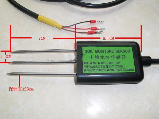 Freies verschiffen Neue 1 stück 0 100% Boden sensor 4 20MA ausgang boden feuchtigkeit sensor feuchtigkeit temperatur sensor 40 ~ 80C qualität gurranty - 2
