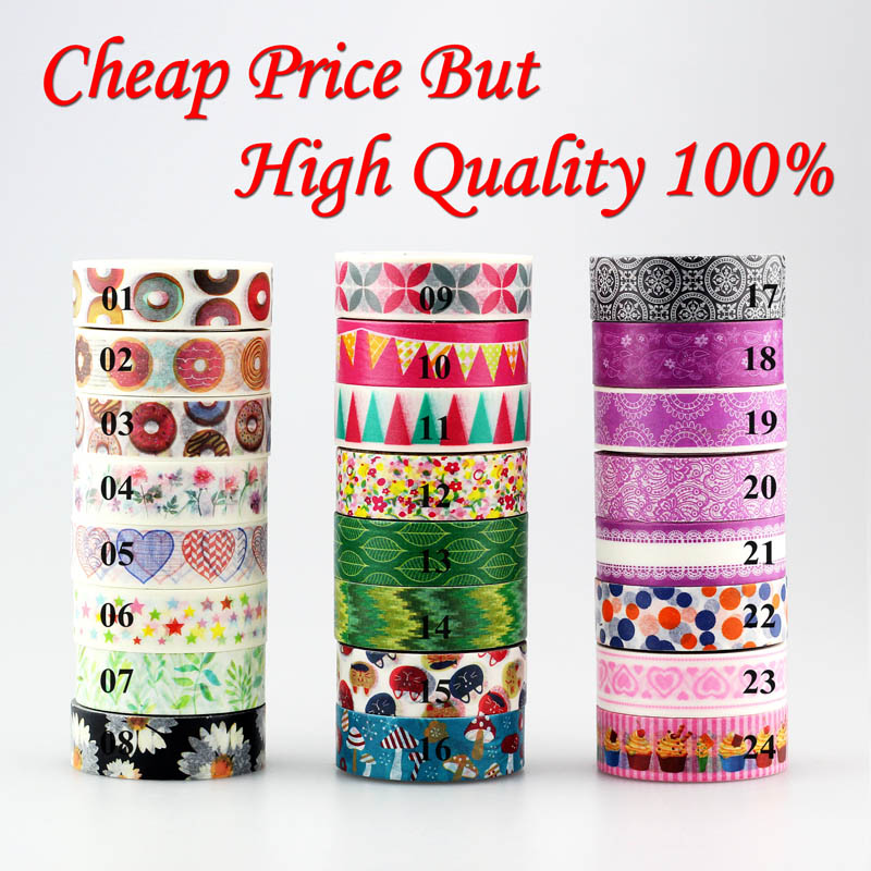 Donuts, flowers, flags, purple colors 1pc Washi Tape Decorative Masking Tape DIY Paper Stickers Scrapbooking Japanese Stationery room id flag system 6 flags primary colors