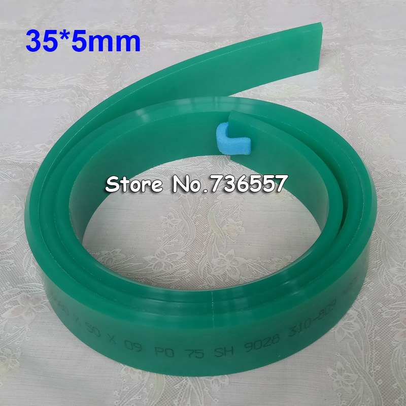 Red Green 35mm*5mm*3660mm!!! Screen Printing Flat Pointed Squeegee Rubber Blade_65A 75A Durometer dek 193199 193202 193205 300 400 520mm clean rubber squeegee