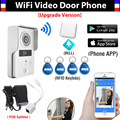 Wireless Wifi IP Doorbell Camera + Indoor Bell+ RFID Keyfobs Video Door Phone Intercom Remote Video Camera for IOS/Android APP
