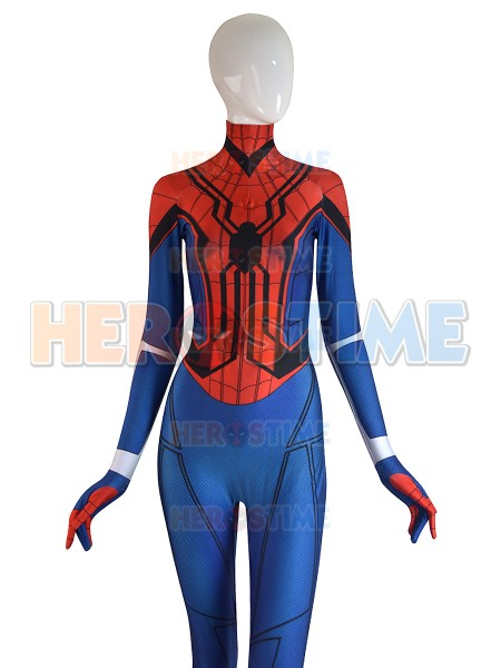 Mayday Homecoming Spiderman Zentai Suit 3D Print Spandex Spider-Girl Cosplay Costume Lady Superhero catsuit free shipping