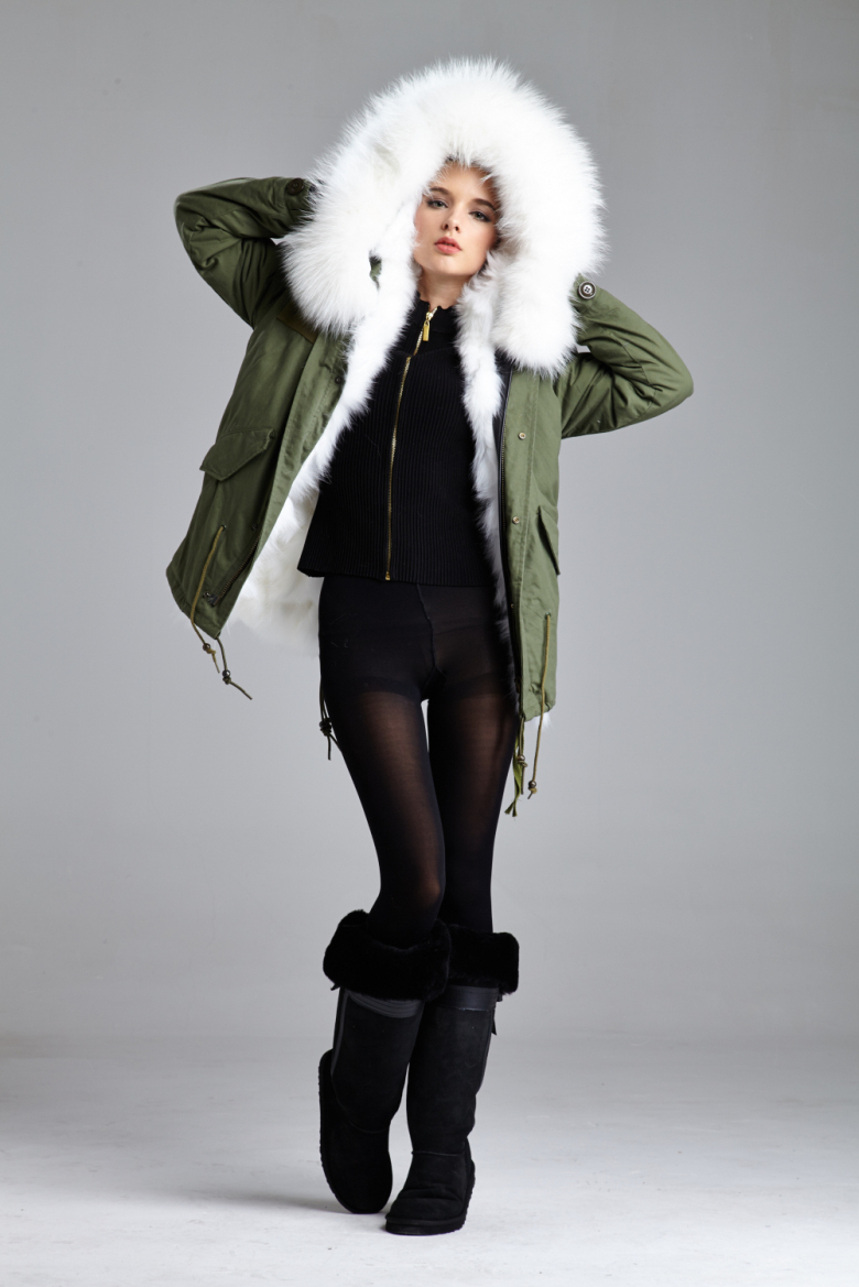 Aliexpress.com : Buy Real Fur Coats White Fox Fur With Hooded