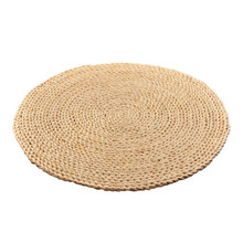 Handmade Corn Husk Braid Mat Tatami Futon Dinner Placemat Yoga Circle Cushion Free Shipping