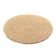Handmade Corn Husk Braid Mat Tatami Futon Dinner Placemat Yoga Circle Cushion Free Shipping