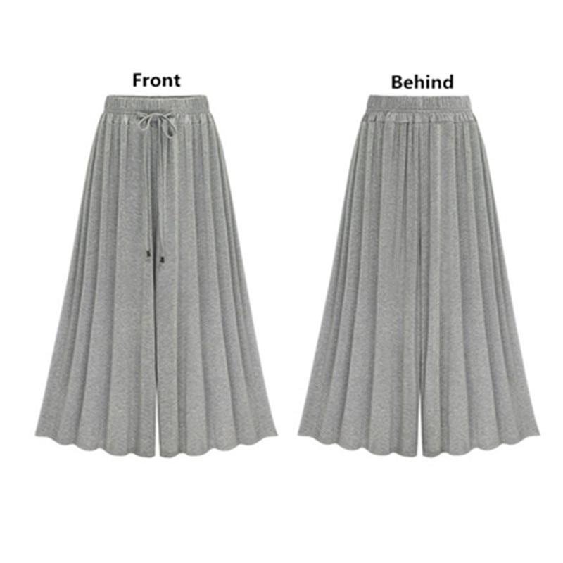 Plus-Size-Women-Pants-Summer-Streetwear-High-Waist-Loose-Wide-Leg-Pants-Cotton-Modal-Elastic-Waist (3)