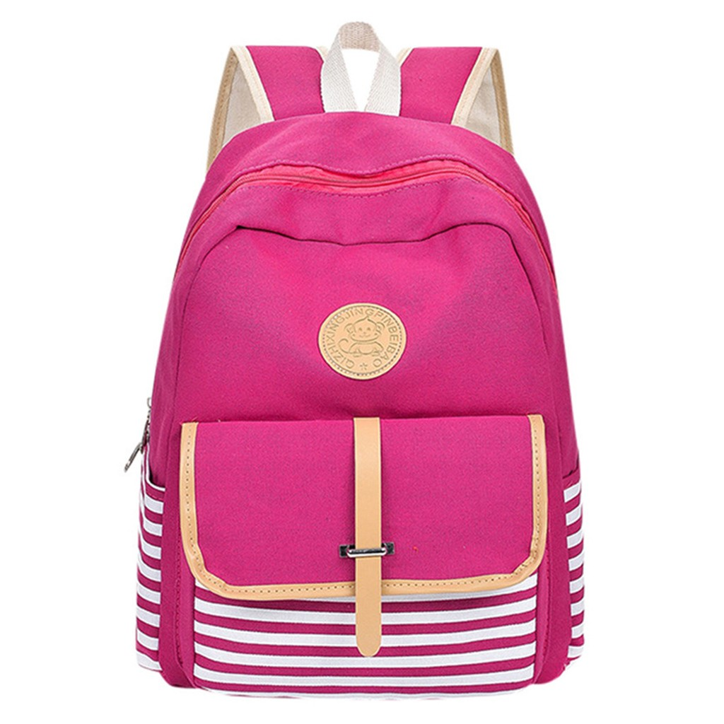 Fashion  Canvas Fringe Women Backpack Student Book Bag with College Backpack Female School Bag for Teenager Girls dropshipping(China)