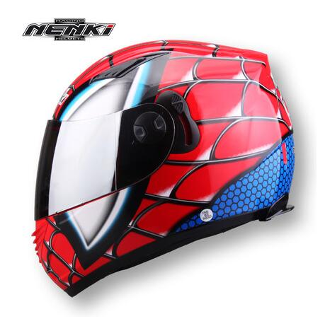 (1pc&6colors) DOT Approval Nenki Brand Double Lens Helmet Wolverine&Spind Man Motorcycle Full Face Helmets Casco Casque 2017 new yohe full face motorcycle helmet yh 970 double lens motorbike helmets made of abs and pc lens with speed color 4 size