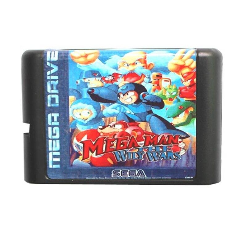 Sega MD game card - Mega Man The Wily Wars for 16 bit Sega MD game Cartridge Megadrive Genesis system