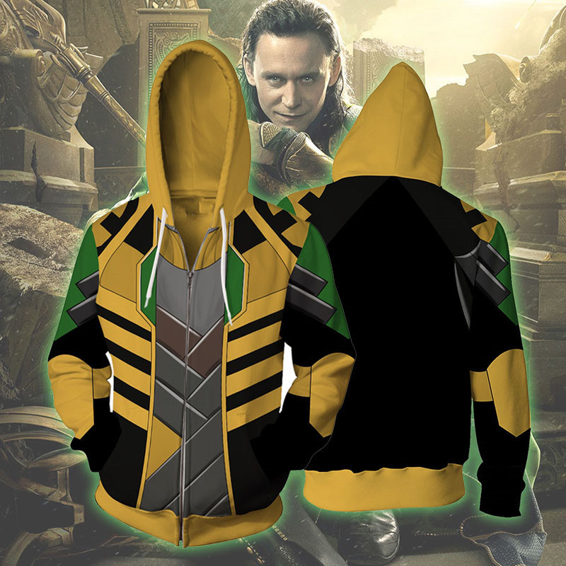 New harajuku Avengers Loki Hoodie Men Women Sweatshirt hooded 3D Print Hoodies Casual Cospaly Hoodies Hip hop Streetwear Outfits