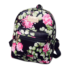 Women backpack 2017 hot sale small fashion causal floral printing backpacks pu leather backpack for teenagers.jpg 250x250