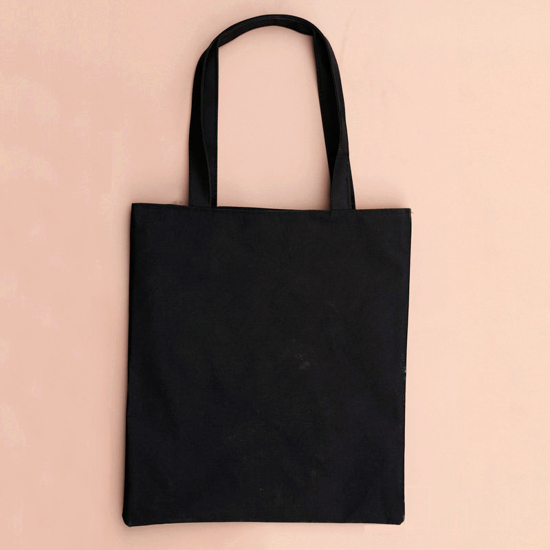 XINGMING 2019 Solid Balack Reusable Shopping Bags Women Men Tote  Canvas Bag Eco Cloth Bags Multiple Sizes