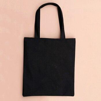 XINGMING 2019 solid balack reusable shopping bags women men tote canvas bag eco cloth bags Multiple sizes Apparels Bags Men's Bag Tote Bags