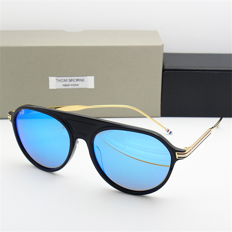 2018 New Arrival Thom Sunglasses Men Women TB809 UV400 High Quality Round Sun Glasses Zonnebril Mannen Dames With Original Case