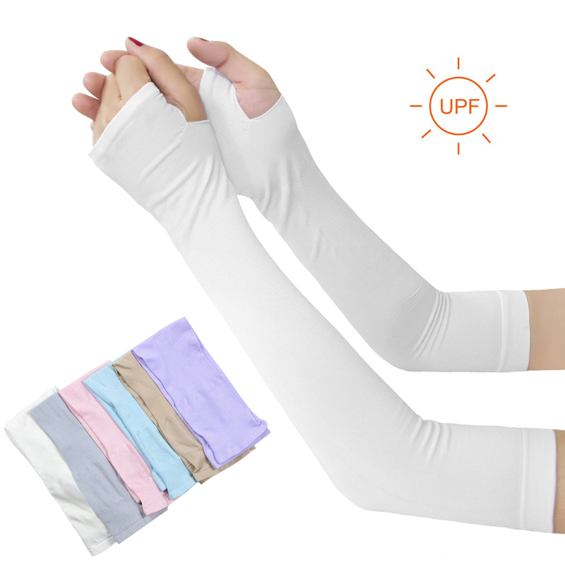 Ice Fabric Arm Sleeves Mangas Warmers Summer Sports UV Protection Running Cycling Driving Reflective Sunscreen Bands