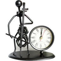 Creative Electronic Desk Clock Decoration Iron Small Desk Clock Bedroom Decoration Office Accessories Decoration Desk WZH019