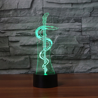 NEW ARRIVAL Snake ABS Bass 3D LED LAMP NIGHT LIGHT Home Living Home Decoration Student Birthday