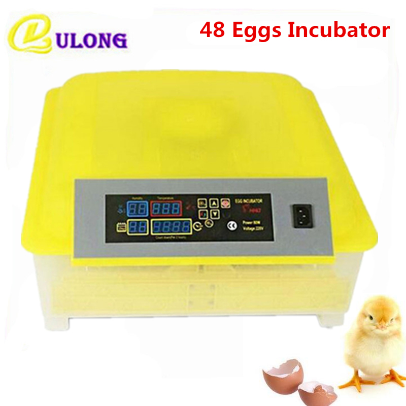 48 Chicken hatcher automatic chinese mini hatchery machine farm use incubator for poultry hatching tray brooder small chicken poultry hatchery machines 48 automatic egg incubator 220v hatching for sale
