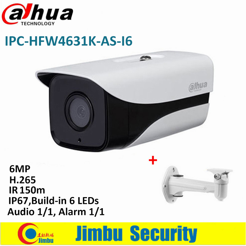 Dahua 6Mp Stellar Bullet IP Camera IPC-HFW4631K-AS-I6 H.265 IR150m built-in SD Card Audio Alarm interface IP67 POE CCTV Camera hikvision 3mp low light h 265 smart security ip camera ds 2cd4b36fwd izs bullet cctv camera poe motorized audio alarm i o ip67