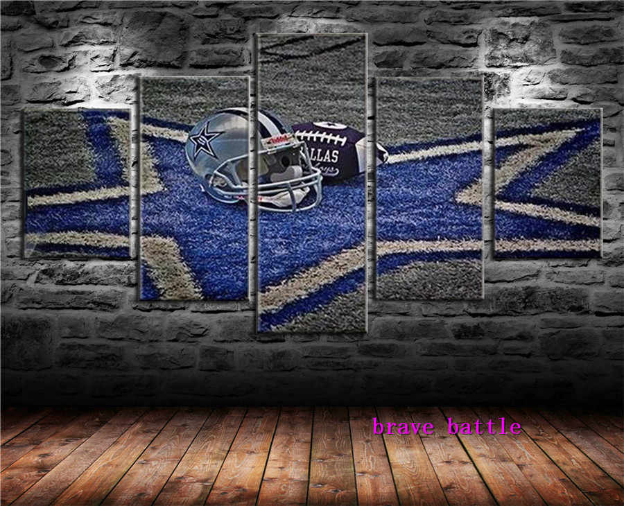 Dallas Cowboys Canvas Painting Living Room Home Decor Modern Mural Art Oil