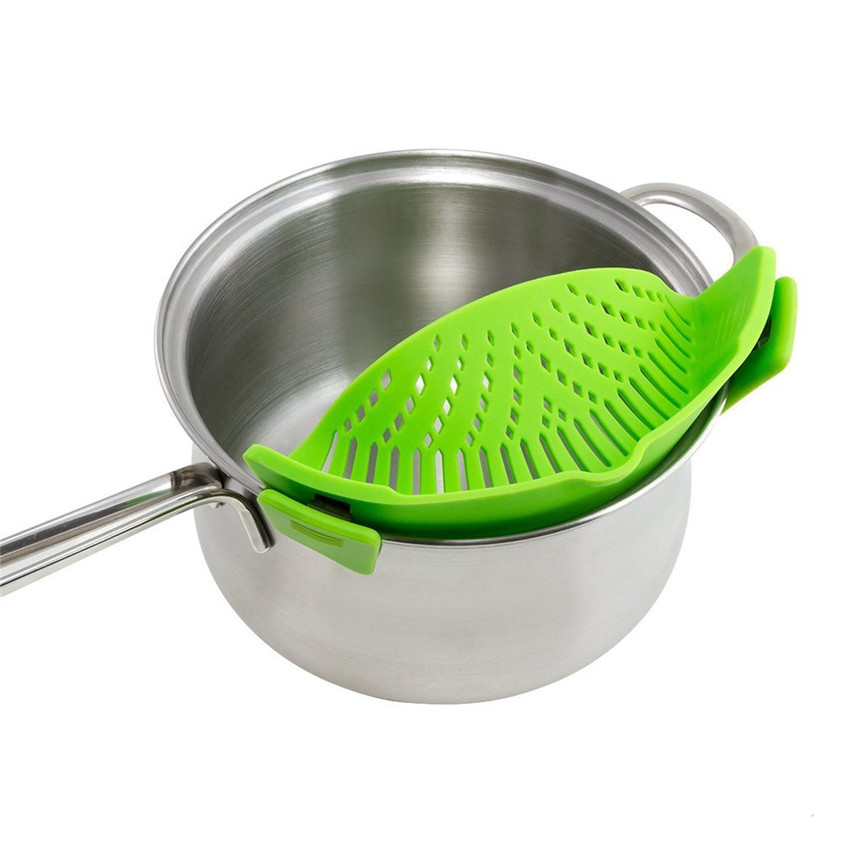 11 11 High Quality New Kitchen Extras Silicone Clip On Snap and Strainer Clip Colander