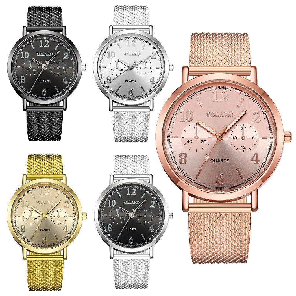 YOLAKO Casual Quartz Plastic Leather Band Newv Strap Watch Analog Wrist Watch   Wrist Watch Women Clock reloj analog watch