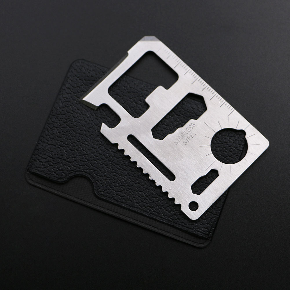 Survival Multi tool Credit Card Tools Swiss Multifunction Army Hunting Card for Camping Outdoor Tools 11 in 1 mutifunction credit card size tools portable wallet knife outdoor camping pocket survival edc mini multi tool