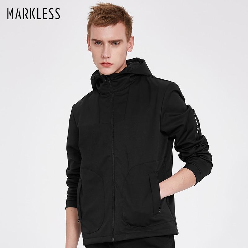 Markless Chaquetas Con Capucha Hombres jaqueta masculina Casual Plus - Ropa de hombre - foto 1
