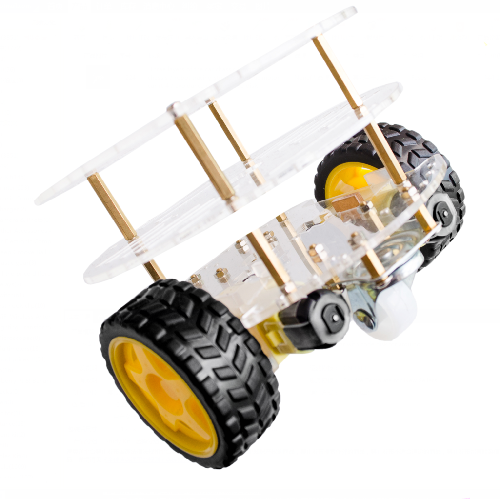 Three Layers Of The Car Chassis Smart Car Chassis Robot Tracing Strong Magnetic Motor Car Rt