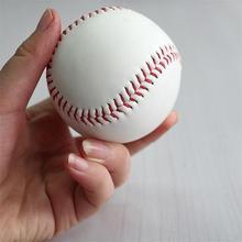 """Белый стандарт """" мягкая кожа пробковый центр бейсбольный мяч Упражнение Практика Обучение база Мячи софтбол Спорт Командные игры"""