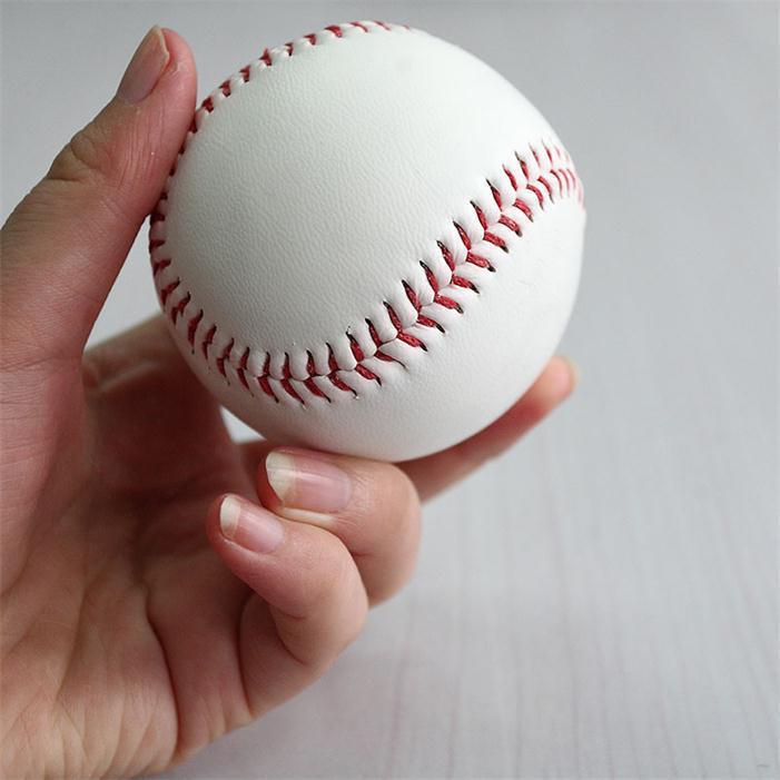 """White Standard 9"""" Soft Leather Cork Center BaseBall Ball Exercise Practice Trainning Base Balls Softball Sport Team Games"""