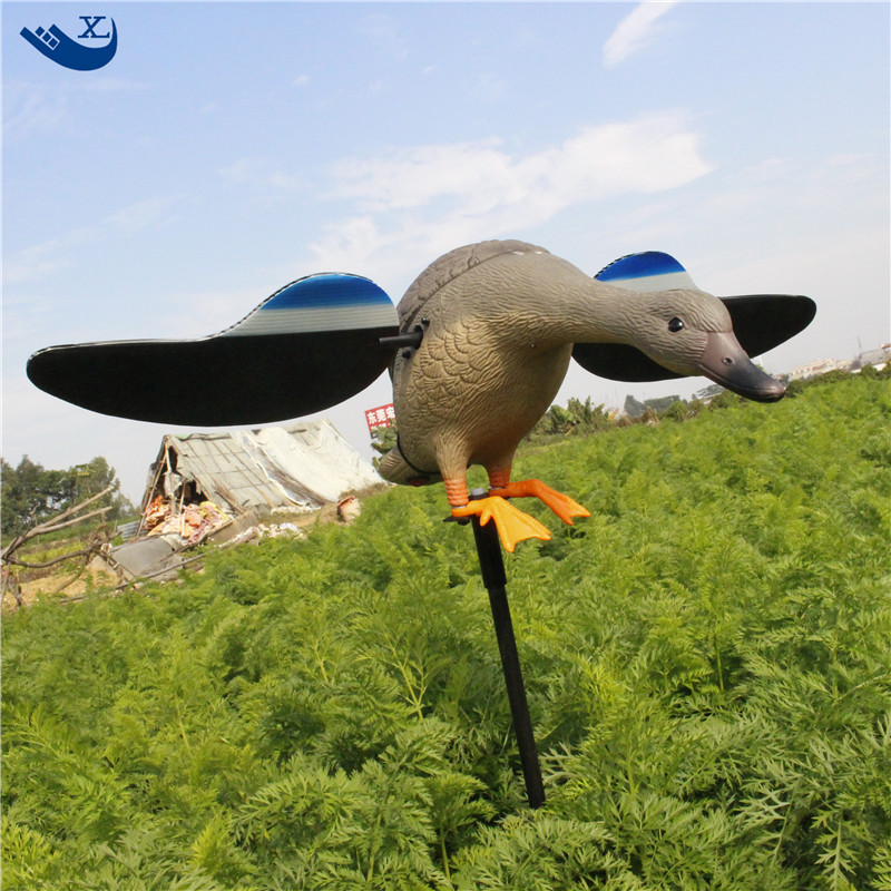 ФОТО  Hunting Duck Decoys Pe Plastic Male Duck Decoy Traps With Magnet Spinning Wings