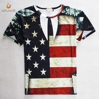 Atuwill American Flag 3d Printed T Shirts Men Women Harajuku Tshirt Homme t-shirt Femme Camisetas Mujer Hip Hop Tee Shirt