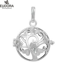 Angel Caller 10PCS/lot Wholesales DIY Women Pendant Lucky Tree Cage 20mm Eudora Cage Locket Pendant Jewelry for Pregnant Gift