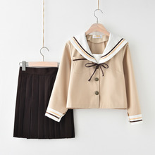 Summer/autumn Japanese High-end Sailor Suit Soft Sister Middle School Pleated Skirt College Wind Class Girl Jk Uniforms