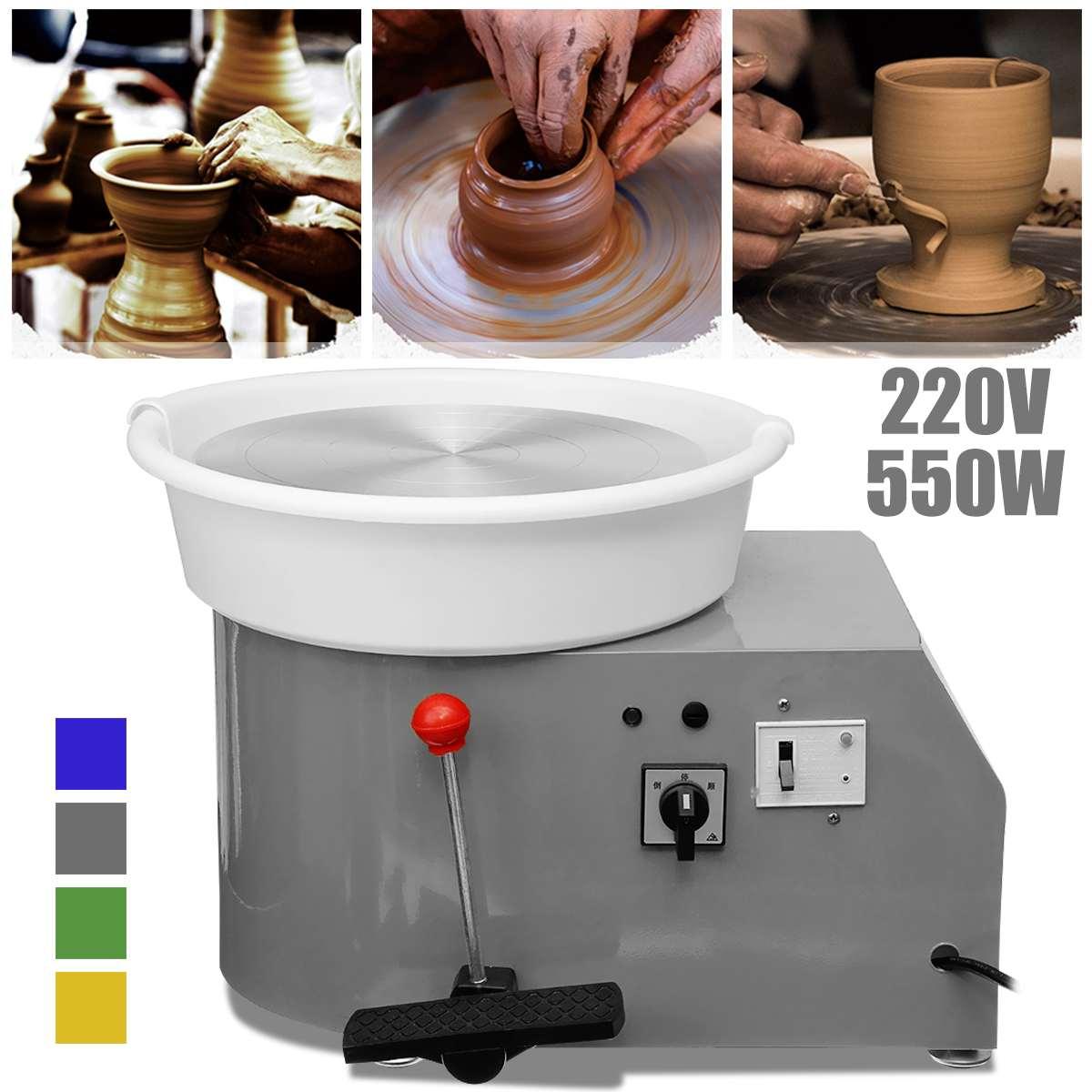 Machine en céramique de roue de poterie électrique tournante 220 V 550 W 30 cm Kit de potier d'argile en céramique pour la Machine d'apprentissage en céramique de travail en céramique