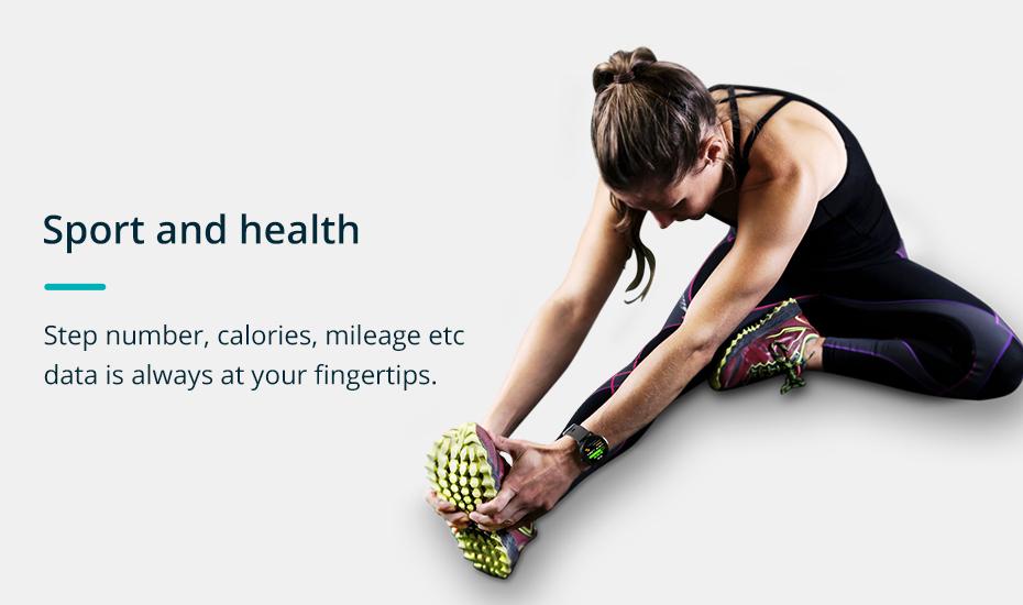 COLMI V11 Smart watch IP67 waterproof Tempered glass Activity Fitness tracker Heart rate monitor BRIM Men women smartwatch 5