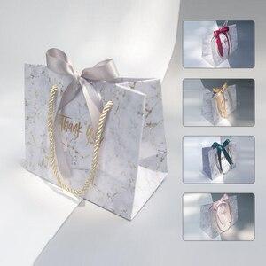 Image 4 - Avebem saco de presente estilo europeu, 10 unidades de mármore criativo, caixa de presente de casamento, lembranças de casamento e sacos de doces para hóspedes