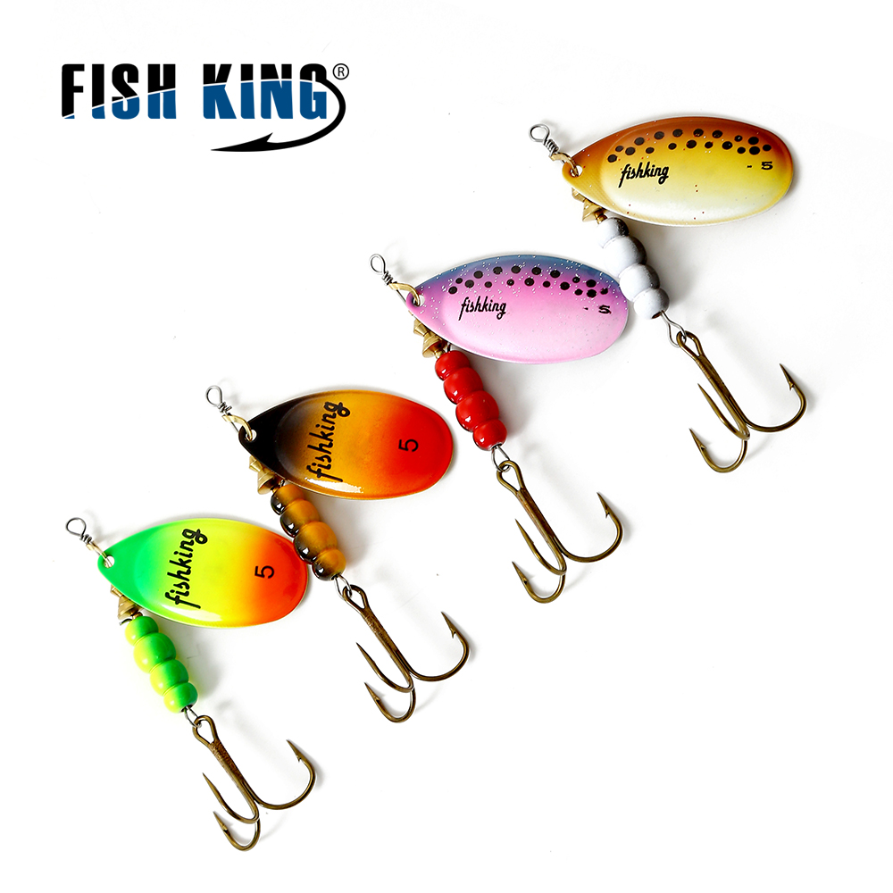 Fishing Lure Poular 4 Color Size 0#-5# Spinner Spoon Bait Metal Hard Lure With Treble Hook Fishing Tackle Pesca
