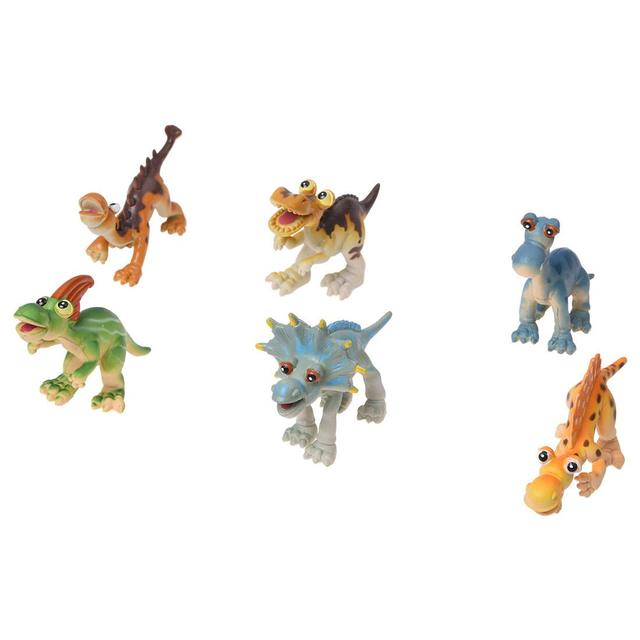 ABWE Best Sale 6 New Hard Plastic Cartoon Animal Dinosaur Figures Set Toy Kid Children