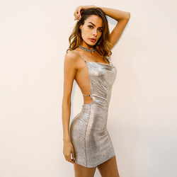 Liva girl Pencil Dresses for Women Dress 2018 V Neck Sequin Mini Sexy White Club Bandage Dress Bodycon Celebrity Vestido De Fest 2