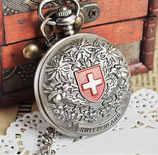 Large size 4.7cm Vintage Classic Men's Silver Mechanical Wind-up Pocket Watch+Chain Fashion Gift Stainless Steel vintage transparent skeleton open face mechanical pocket watch men women fashion silver hand wind watch chain pendant gift