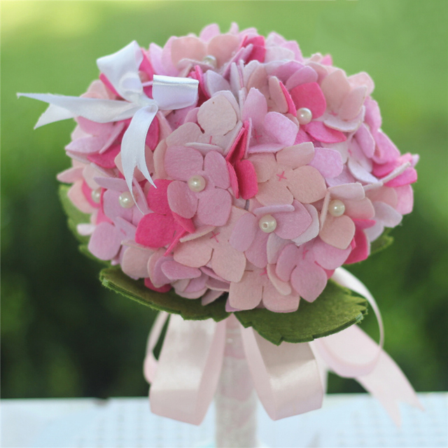 Wedding Bouquet Free Cutting Felt DIY Material Package Handmade ...