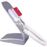 10pcs/lot Promotion flexible metal white color mobile phone pull box anti theft holder