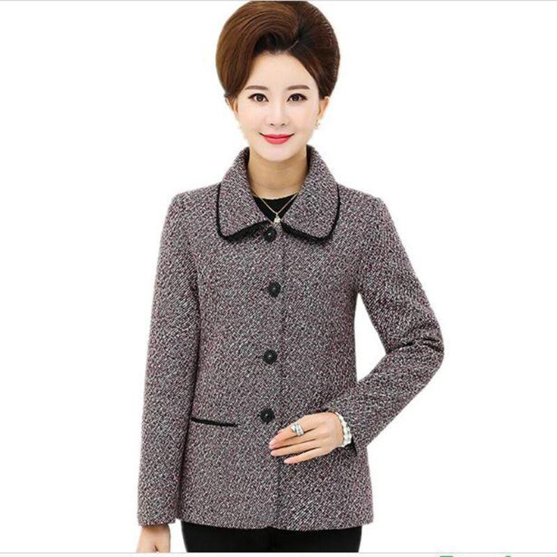 Women Middle-aged Spring And Autumn Coat Women 2018 New Slim Single-breasted Blazer Women Fashion Large size XL-5XL Blazer AC772