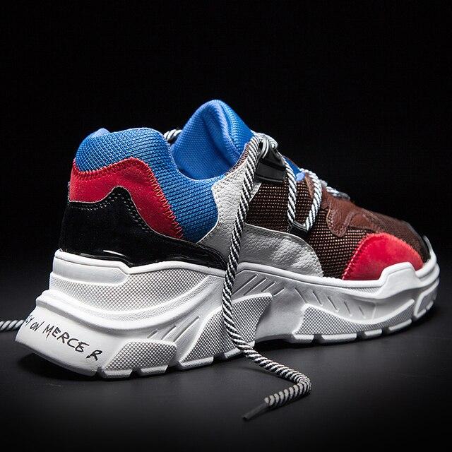 Suela gruesa de otoño de los hombres de la marca zapatos casuales zapatos  de moda Zapatillas dbeaa9a17dc3