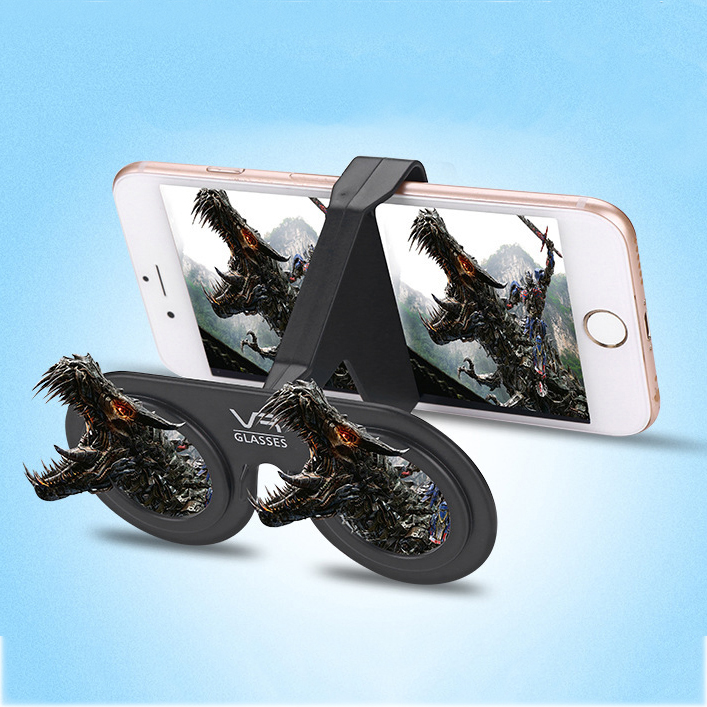 Universal Portable VR Virtual Reality 3D Glasses Mini VR Moive Glasses Phone Holder for Samsung for LG for Xiaomi for Android