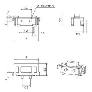 Image 3 - Eziusin 100 pçs micro tato interruptor de toque 3*6*3.5 3x6x3.5 smd para mp3 mp4 tablet pc botão fone ouvido bluetooth controle remoto