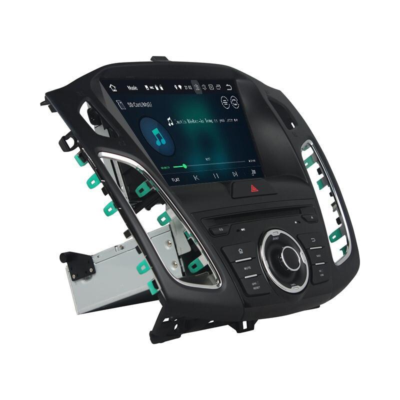Autoradio 8 Core 64 go rom Android 9.0   Navirider, écran tactile, GPS de Navigation pour FORD Focus, 2015-2018, lecteur vidéo bluetooth